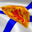 Nova Scotian Territorian flag in the wind - Stock Photo