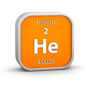 Helium material sign — Stock Photo