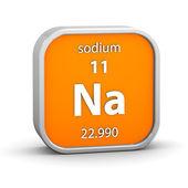 Natrium materiella tecken — Stockfoto