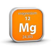 Materiał znak magnezu — Zdjęcie stockowe