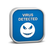 Virus Detected Sign — Stock Photo