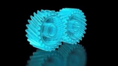 Mesh gears — Stock Video