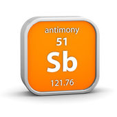 Antimony material sign — Stock Photo