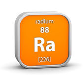 Radium material sign — Stock Photo