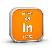 Indium material sign — Stock Photo