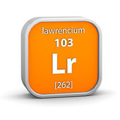 Lawrencium material sign — Stock Photo