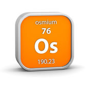 Osmium material sign — Stock Photo