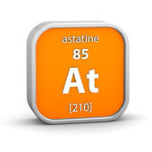 Astatine material sign — Stock Photo