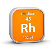 Rhodium material sign — Stock Photo