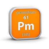 Promethium material sign — Stock Photo