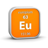 Europium material sign — Stock Photo