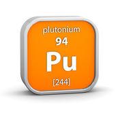 Plutonium material sign — Stock Photo