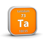 Tantalum material sign — Stock Photo