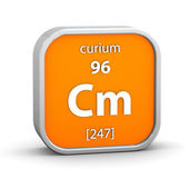 Curium material sign — Stock Photo