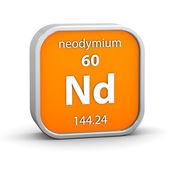 Signo material del neodimio — Foto de Stock