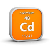 Cadmium material sign — Stock Photo