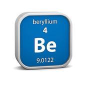 Signo material del berilio — Foto de Stock