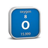 Oxygen material sign — Stock Photo