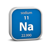 Sodium material sign — Stock Photo