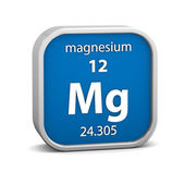 Magnesium materiële teken — Stockfoto