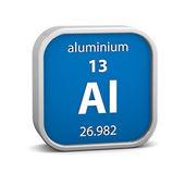 Signo material aluminio — Foto de Stock