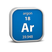 Argon material sign — 图库照片