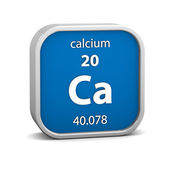 Calcium material sign — Stock Photo