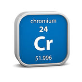 Chromium material sign — Stock Photo