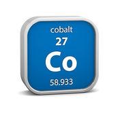Cobalt material sign — Stock Photo