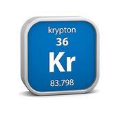 Materiał znak krypton — Zdjęcie stockowe