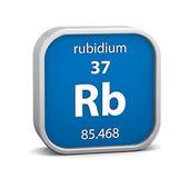 Materiał znak rubidu — Zdjęcie stockowe