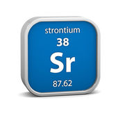 Strontium material sign — Stock Photo