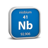 Niobium material sign — Stock Photo