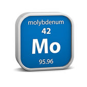 Molybdenum material sign — Stock Photo