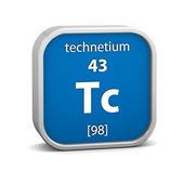 Materiální znak technecium — Stock fotografie