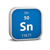 Tin material sign — Stock Photo