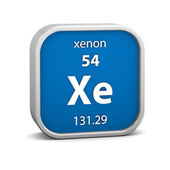 Xenon material sign — Stock Photo