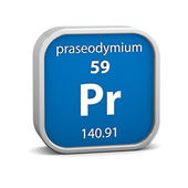 Praseodymium material sign — Stock Photo