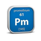 Promethium materiálu znamení — Stock fotografie