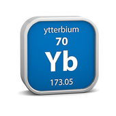Ytterbium material sign — 图库照片