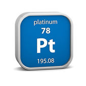 Platinum material sign — Stock Photo