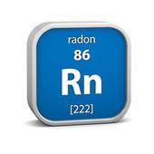 Materiální znak radonu — Stock fotografie
