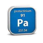 Protactinium material sign — Stock Photo