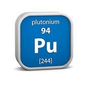 Signo material plutonio — Foto de Stock