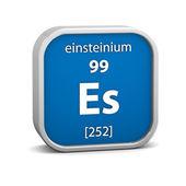 Materiał znak: einsteinium — Zdjęcie stockowe