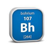 Materiální znak bohrium — Stock fotografie