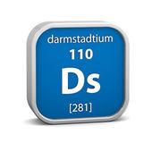 Materiał znak: darmstadtium — Zdjęcie stockowe