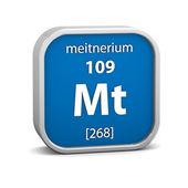 Materiał znak meitnerium — Zdjęcie stockowe