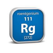Materiální znak roentgenium — Stock fotografie