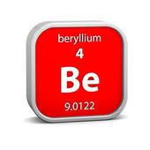 Beryllium material sign — Stock Photo